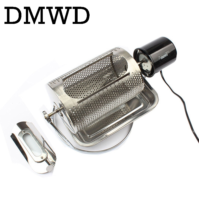 DMWD Home use coffee bean roaster machine stainless steel coffee beans roasting machine peanuts nuts 110V 220V 40w EU US BS plugDMWD Home use coffee bean roaster machine stainless steel coffee beans roasting machine peanuts nuts 110V 220V 40w EU US BS plug