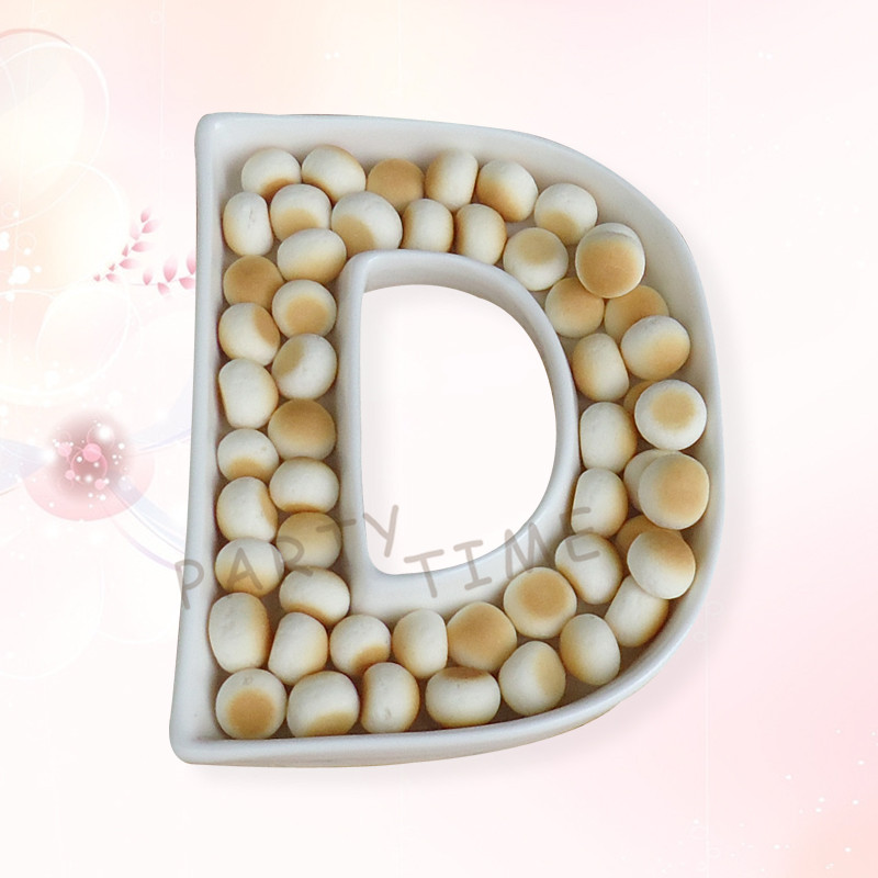 wedding plates ceramic english letter dish letterd shape candy dishchina mainland