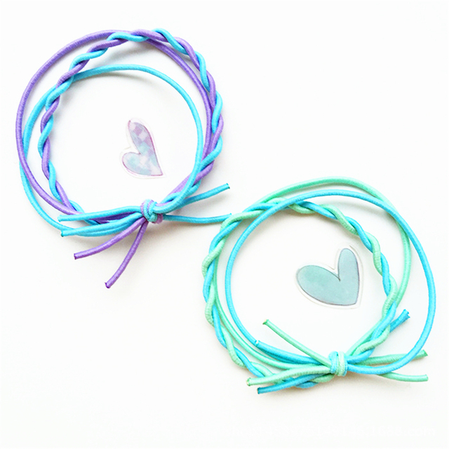 Random Color New Fashion Elastic Hair Ties Women S Hairband Accessories Purple Blue Mint Green Pink