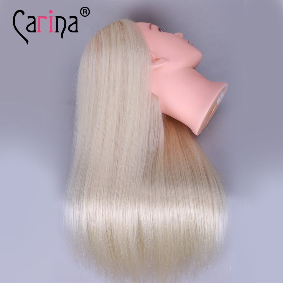 22 quot Blonde Doll With Long Hair Training Head Professional Bride Mannequin Hairdressing Dolls Quality Fiber Thick Mannequin Head in Mannequins from Home amp Garden