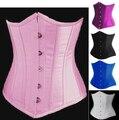 Free Shipping Clearance 2686 stain underbust  corset shaper Burlesque Sexy Underbust Corset Waist Cincher Lingerie Size