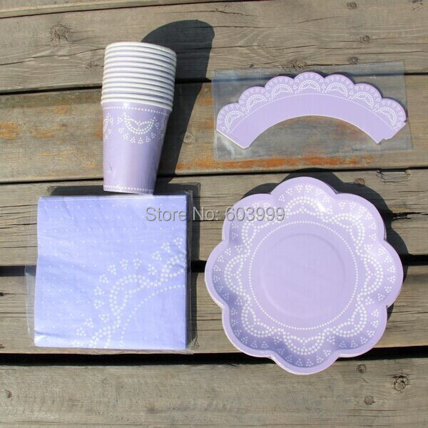 ... Lace-Paper-Plates-Lavender.jpg ... & 200 PKT X 28 items Stylish partyware Flower Doily Lace Scallop Paper ...