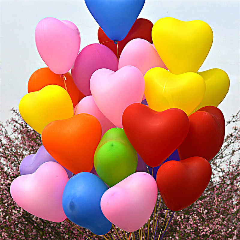 5pcs 12inch 2.2g Heart Latex Balloon Birthday Party Decoration Kid Wedding Balloons Children Party Supplies Air Balls Inflatable