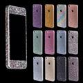 Fashional beleza diamante cristal glitter bling full body decoração adesivo de pele protector case para iphone 5 5s 4 4s