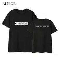 ALIPOP Kpop BTS Bangtan Boys Japon Fanlar Meetting Albümü Gömlek Pamuklu Giysiler Tişört T Shirt Kısa Kollu T-shirt DX436 Tops