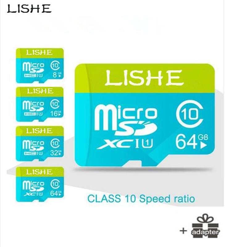 New LISHE Memory Card 64gb 128gb Micro SD 64GB 128GB SDHC SDXC Grade Class 10 C10 UHS TF Cards Trans Flash Microsd free shipping