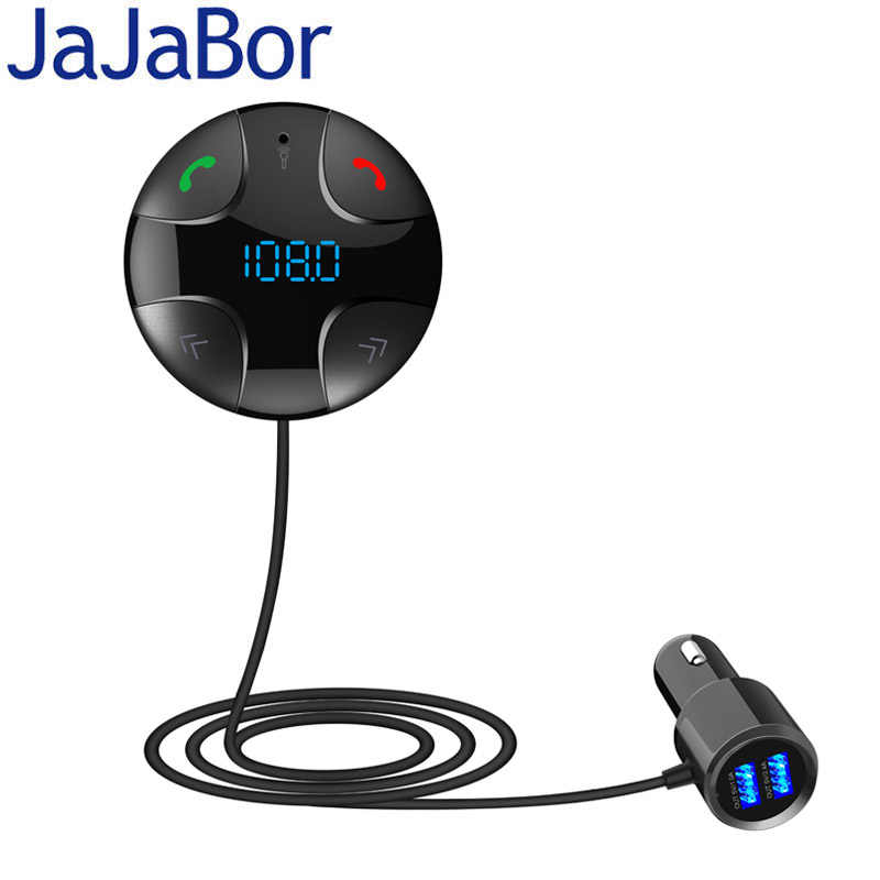 JaJaBor manos libres bluetooth coche Transmisor FM A2DP Wireless Car MP3 Player Soporte TF Tarjeta Music Play Dual USB Car Charger