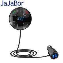 JaJaBor Bluetooth לרכב דיבורית FM משדר A2DP אלחוטי רכב MP3 נגן תמיכת TF כרטיס מוסיקה לשחק USB הכפול לרכב מטען