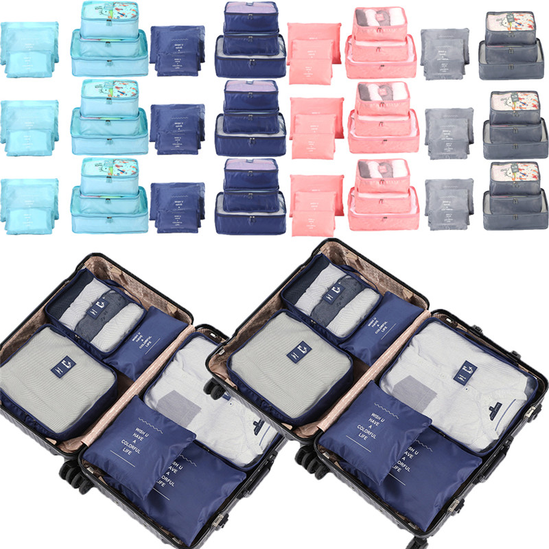 6 Pcs/Set Travel Storage Bags Clothes Packing Cube Luggage Organizer Pouch Bag 2019 Hot