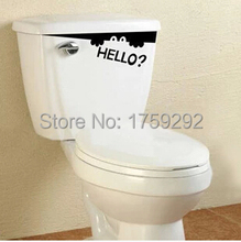 2016  Removable Decoration Wall Stickers funny Bathroom Toilet Stickers Glass Stickers Home  Decor Art Decals Free shipping