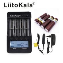 חדש LiitoKala lii 500 3.7V 18650 26650 מטען + 4pcs LGDBHG2 3.7V 18650 3000mah גבוהה כוח פריקה נטענת סוללה 30A