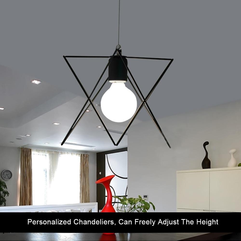 Retro indoor lighting Vintage pendant light LED lights iron cage lampshade warehouse style light fixture