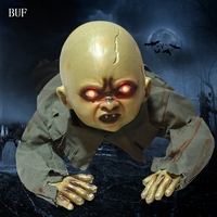 BUF Horror Halloween Party Decoration Electric Crawl Baby Ghost Creative Halloween Decoration Horror Ghosts With Glowing Eyes