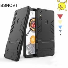 For Xiaomi Mi 8 SE Case Silicone + Plastic Kickstand Armor Anti-knock Cover BSNOVT