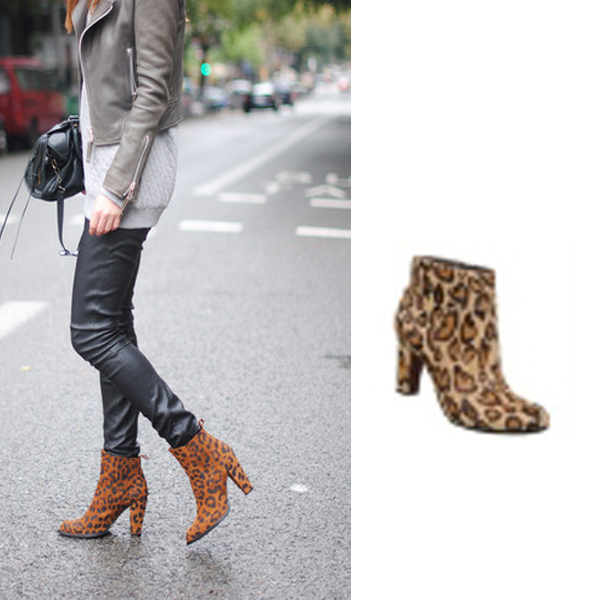 Aliexpress.com : Buy soft suede ankle boots leopard booties chunky ...