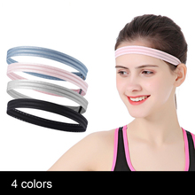 Нескользящая спортивная повязка на голову для фитнеса, тенниса, бадминтона, баскетбола, повязки на голову для бега
