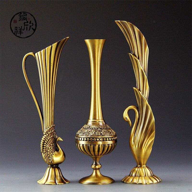 Flower Bottle Decor Cutting Dies Fidget Spinner Wedding Brass Peacock Vase Of Modern European Home Furnishing Copper