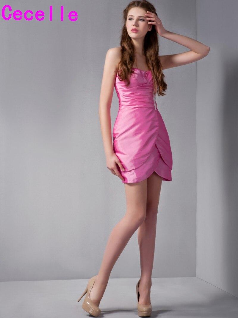 Hot Pink Short Bridesmaid Dresses