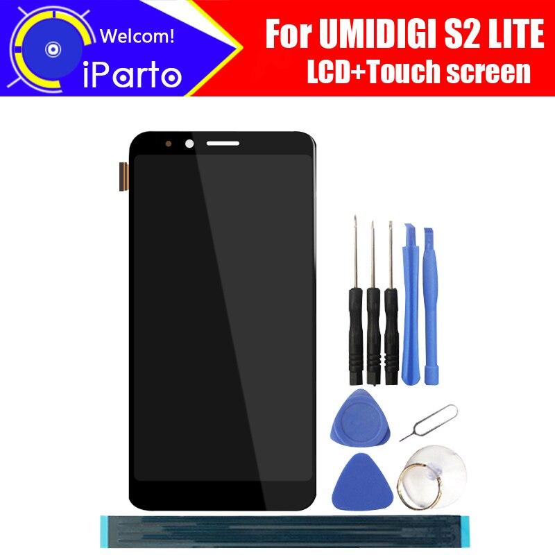 6.0 polegada UMIDIGI S2 LITE LCD Display + Touch Screen Digitador Assembléia 100% Original Novo LCD + Digitador Touch para s2 LITE + Ferramentas