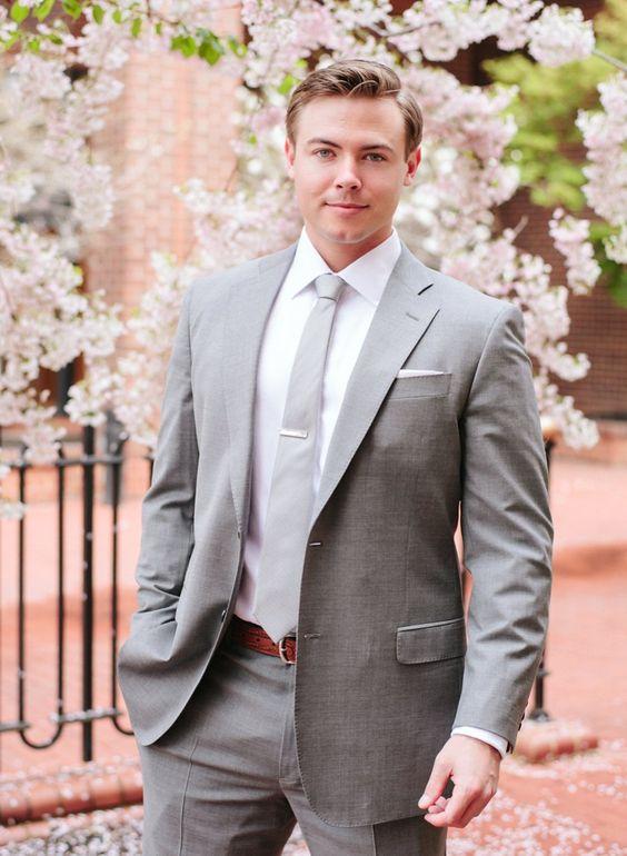 Latest Coat Pant Designs Light Grey Casual Custom Beach Tuxedo Groom Wedding Men Suits 2 Pieces Slim Fit Terno Jacket+Pants IA