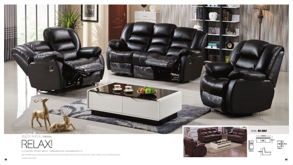 Online Buy Wholesale genuine leather sofa set from China ...