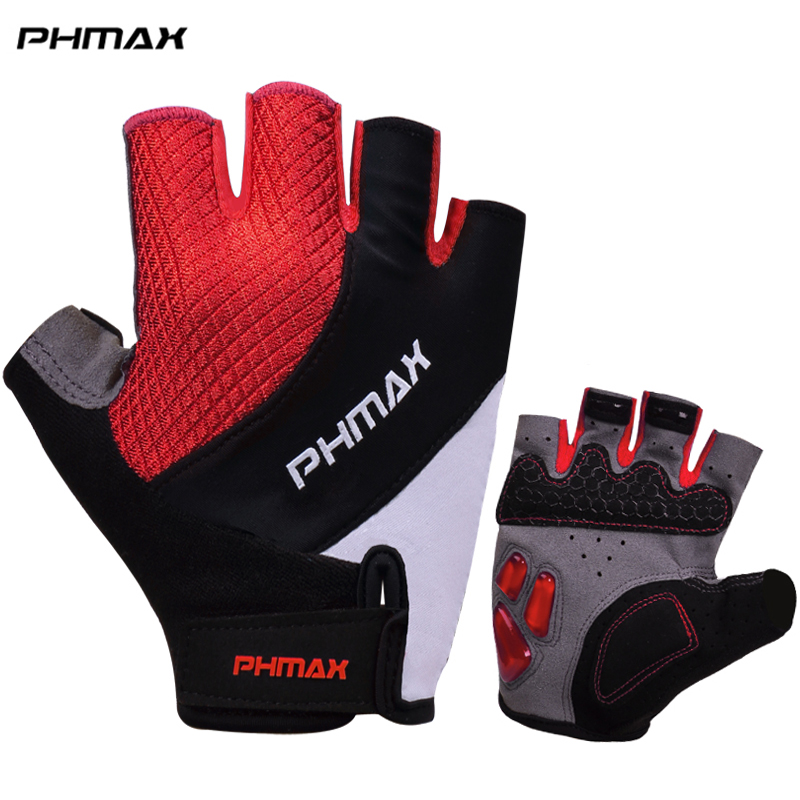 PHMAX Liquid Silicone Cycling Gloves Half Finger Mens Women's Summer Sports Shockproof Bike Gloves Motorcycle MTB Bicycle Gloves