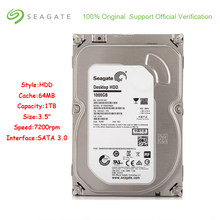 New Seagate ST1000DM003 1000 GB Capacidade de HDD Interno 3.5 Gb/s SATA 6 Polegada 64 MB de Cache 7200 RPM Disco Rígido disco Para PC Desktop