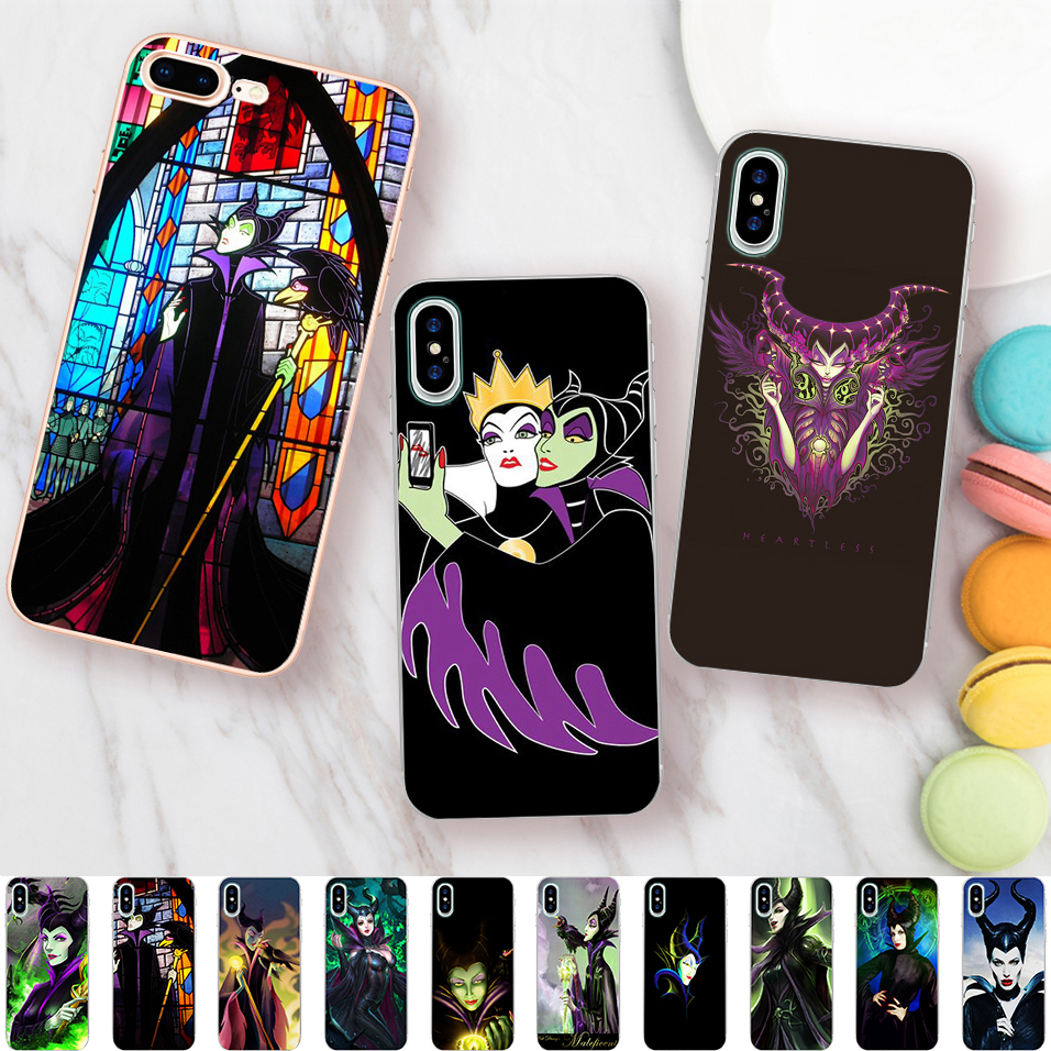 Us 2 59 35 Off Minason Angelina Jolie Maleficent Selfie Cartoon Case For Iphone X 5 S 5s Xr Xs Max Se 6 6s 7 8 Plus Clear Soft Silicone Cover In