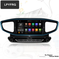 Android 9.0 automatic Car GPS Navigation DVD Player GPS Navigation For HYUNDAI Ioniq Blue/Hybrid 2016 2019 2020 Steer WHEEL Map