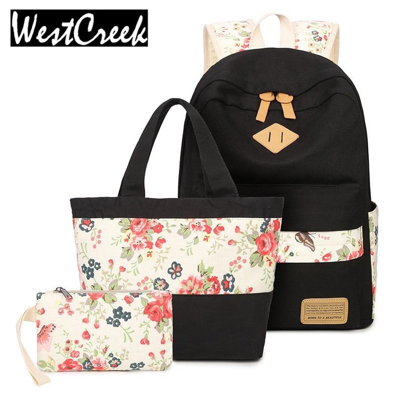 Hot Sale 2017 Women Fashion Backpack Sets Girls Bookbags Travel Bag Female Backpacks Style for Shoulder