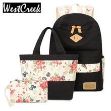 Heißer Verkauf 2017 Frauen Mode Rucksack Sets Mädchen Bookbags Reisetasche Weibliche Rucksäcke Stil für Schultertasche Handtasche