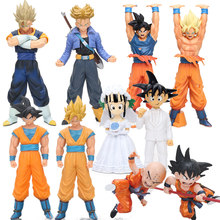 6-25cm 2pcs/set Super Destroy God Beerus Son Goku Vegeta Trunks PVC Action Figure Dragon Ball Z DXF Collectible Model Dolls Toy(China)