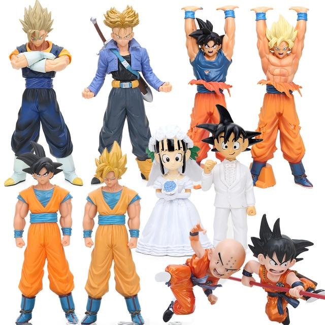 6-25 cm 2 pçs/set Super Destruir Deus Beerus Son Goku Vegeta Trunks PVC Action Figure Dragon Ball Z DXF Collectible Modelo Toy Dolls