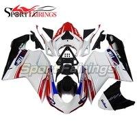 Инъекции Обтекатели для Ducati 1198 1198 S 1098 1098 s 848 2007 2009 2012 ABS мотоциклов обтекателя Kit Кузов Тим красный, Белый Новый