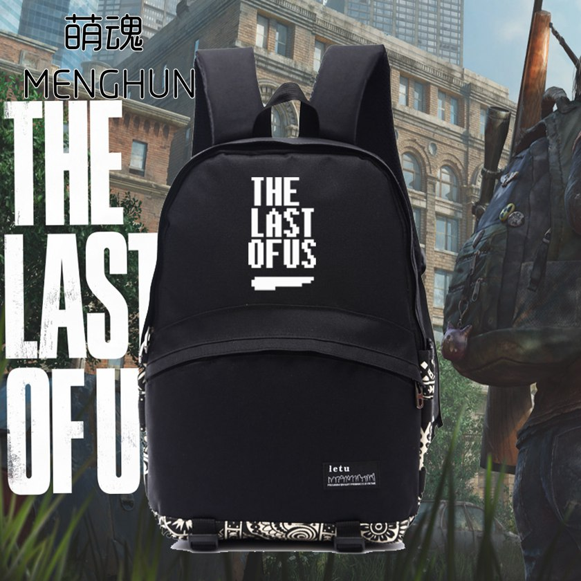 great game the last of us backpack Game concept The last of us black nylon durable backpack for game fans NB067