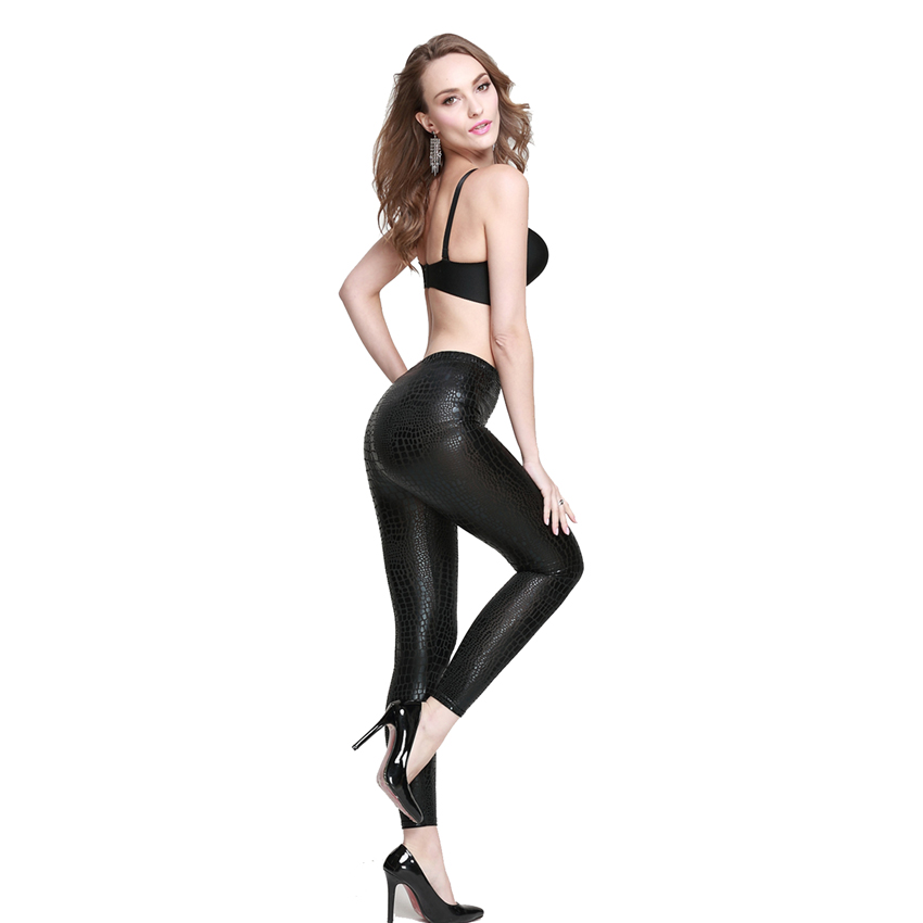 bb61f9d9f577b 2016 new style faux leather legging women fish scale mermaid snake patent  leather legging plus size big size women legging-in Leggings from Women's  Clothing ...