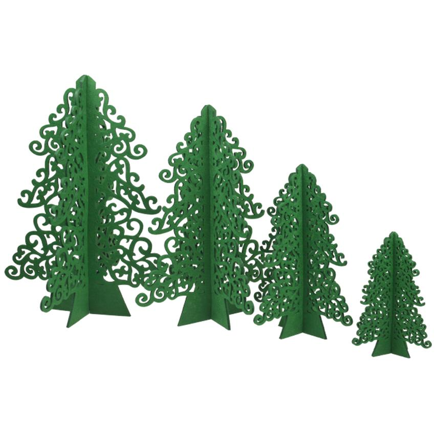 outdoor indoor green cartoon mini artificial christmas trees with cristmas tree skirt wool hair felt artificial xmas trees in trees from home garden on