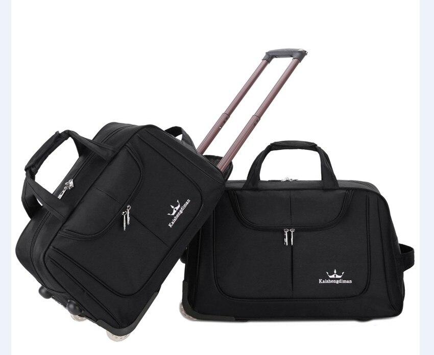 Путешествия Тележка рюкзаки мешки двойной Применение Чемодан сумки для путешествий ноутбук рюкзак тележка для женщин Бизнес Rolling Чемодан с...