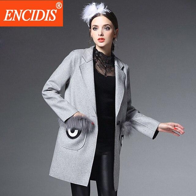 New Female Trench Coat Lady  Winter and Autumn European Women Coats Long Windbreaker Warm Overcoat Loose Outerwear F102