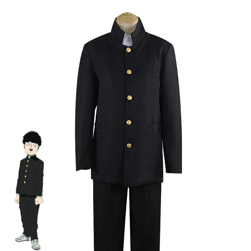 Anime Mob Psycho 100 Cosplay Costume Kageyama Shigeo Cosplay Costume Japanese School Uniforms Jacket Pants Halloween