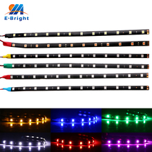 цены 2PCS 30CM 5050 12 Smd Auto led Strip Light Flexible Daytime Running lights Car led Strip Lights 12V IP65 Waterproof DRL White