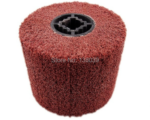 120mm X 100mm Drum Non-Woven Abrasive Polishing Wheel (Cylinder Buffing Wheel) Drawing Wheels For Wire Drawing Machine 4 PCS