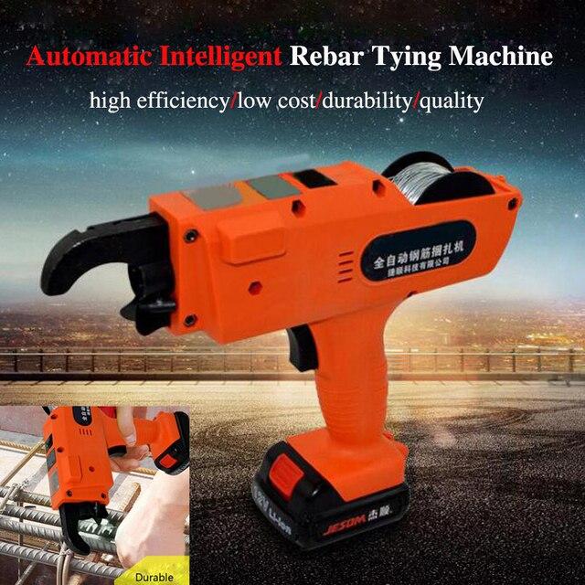 Rebar Tier Binding Machine 12V 3000mAh Automatic Rebar Tying Machine Cordless Wire Lithium Battery 4