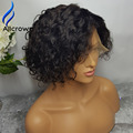 Affordable Full Lace Wigs For Black Women Short Human Curly Lace Front Wigs Curly Bob Brazilian Human Hair Full Lace Wig