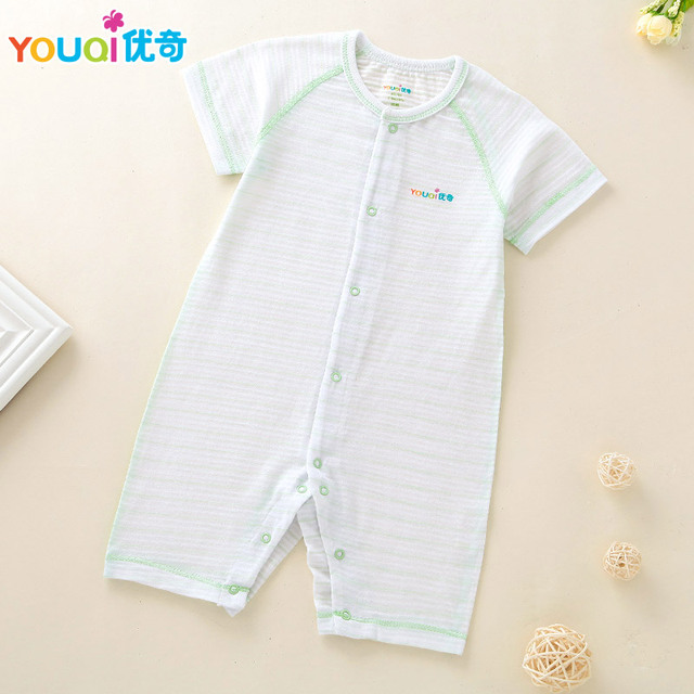 65af8913d51d YOUQI Summer Baby Rompers Thin Baby Boy Clothes Brand Baby Girl Costumes  100% Cotton 3 6 24 Months Toddler Soft Pajamas Clothing