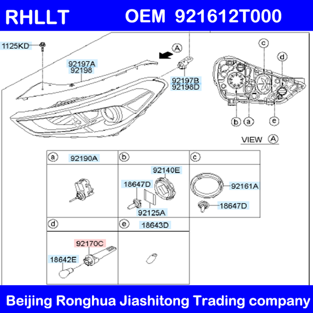 OEM 921912T000 2 PCS بدوره مصباح إشارة حامل آسى لكيا أوبتيما K5 11-14 كادينزا K7 13-15 ل هيونداي توكسون 16