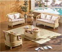 high quanlity garden furniture patio furniture outdoor rattan sofa tea table wicker cushioned rattan furnitures