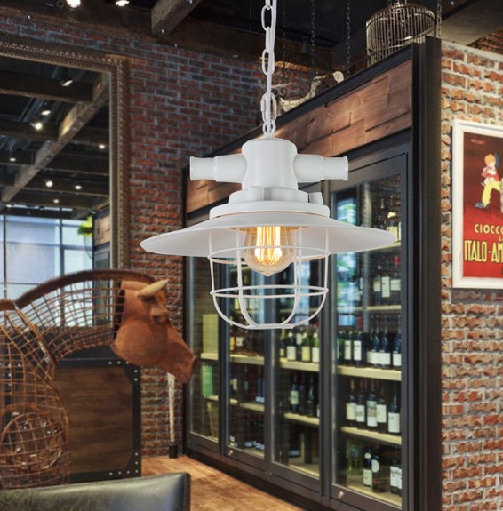 American Loft Style Iron Lid Droplight Edison Industrial Vintage Pendant Light Fixtures For Dining Room Hanging Lamp Lampara american loft style iron art retro droplight edison industrial vintage pendant light fixtures for dining room bar hanging lamp