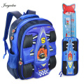 For New Term Cool Boy School Bags Kid Backpack Children School Backpack Pack pencil case and pencil set as gifts free