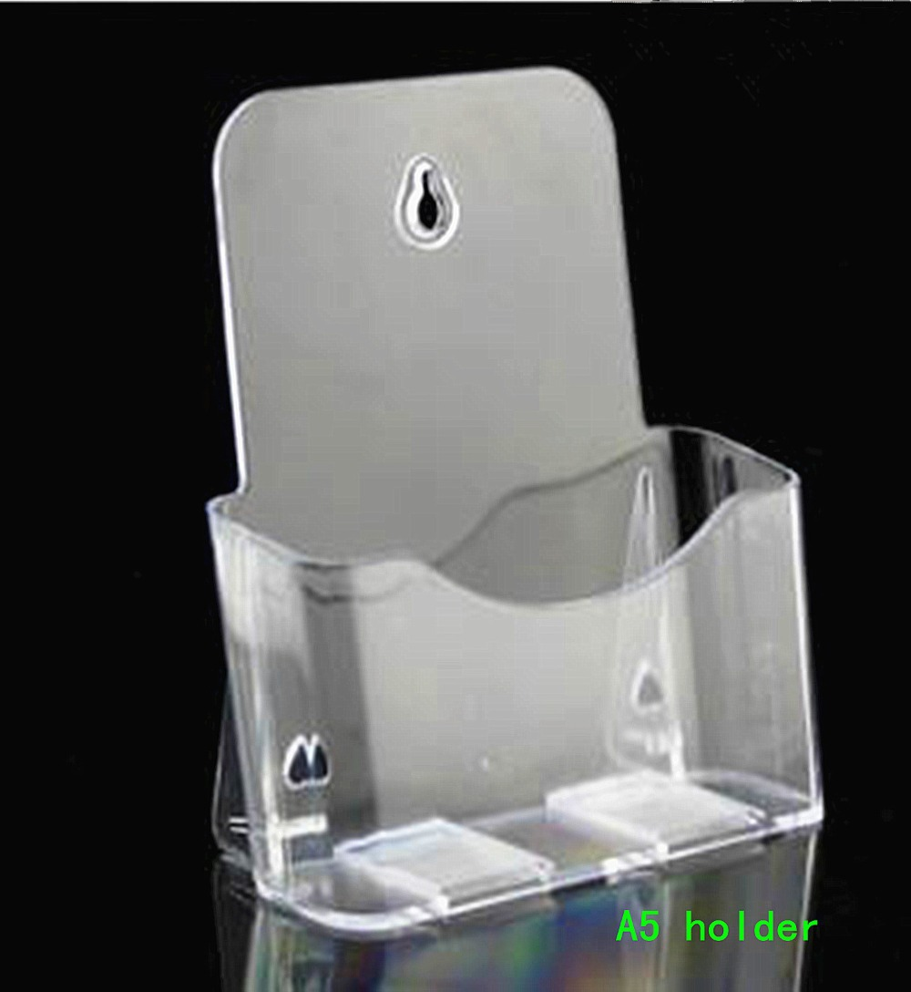 Clear A5 Single Plastic Acrylic Brochure Literature Pamphlet Display Holder Racks Stand To Insert Leaflet 50pcs clear 2pcs a5 3 tiers plastic brochure literature pamphlet display holder racks stand to insert leaflet on desktop
